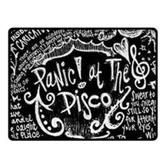 Panic! At The Disco Lyric Quotes Fleece Blanket (small) by Samandel