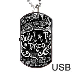 Panic! At The Disco Lyric Quotes Dog Tag Usb Flash (two Sides) by Samandel