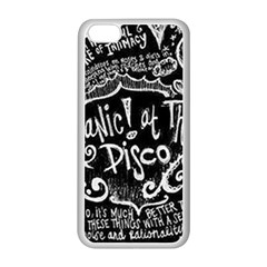 Panic! At The Disco Lyric Quotes Apple Iphone 5c Seamless Case (white) by Samandel