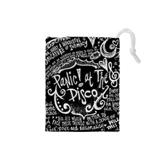Panic! At The Disco Lyric Quotes Drawstring Pouches (small)  by Samandel