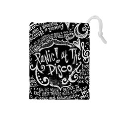 Panic! At The Disco Lyric Quotes Drawstring Pouches (medium)  by Samandel