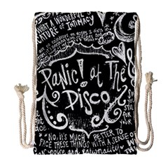 Panic! At The Disco Lyric Quotes Drawstring Bag (large) by Samandel