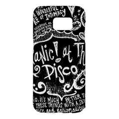 Panic! At The Disco Lyric Quotes Samsung Galaxy S7 Edge Hardshell Case by Samandel
