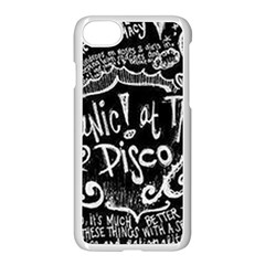 Panic! At The Disco Lyric Quotes Apple Iphone 8 Seamless Case (white) by Samandel