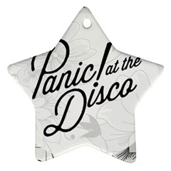 Panic At The Disco Flowers Ornament (star) by Samandel
