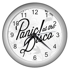 Panic At The Disco Flowers Wall Clocks (silver)  by Samandel