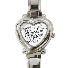 Panic At The Disco Flowers Heart Italian Charm Watch by Samandel