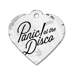 Panic At The Disco Flowers Dog Tag Heart (two Sides) by Samandel