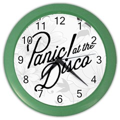 Panic At The Disco Flowers Color Wall Clocks by Samandel