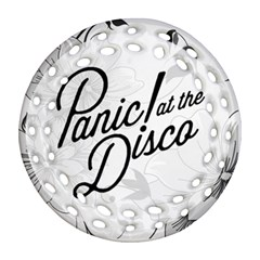 Panic At The Disco Flowers Ornament (round Filigree) by Samandel