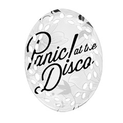 Panic At The Disco Flowers Oval Filigree Ornament (two Sides) by Samandel