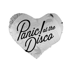 Panic At The Disco Flowers Standard 16  Premium Heart Shape Cushions by Samandel