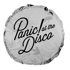 Panic At The Disco Flowers Large 18  Premium Flano Round Cushions by Samandel