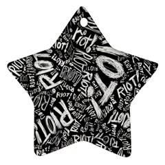 Panic At The Disco Lyric Quotes Retina Ready Ornament (star) by Samandel