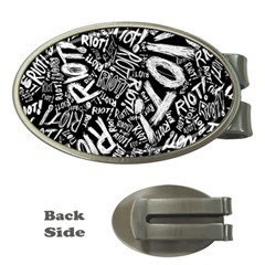 Panic At The Disco Lyric Quotes Retina Ready Money Clips (oval)  by Samandel