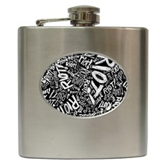 Panic At The Disco Lyric Quotes Retina Ready Hip Flask (6 Oz) by Samandel