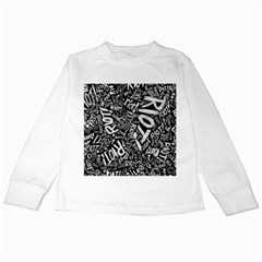 Panic At The Disco Lyric Quotes Retina Ready Kids Long Sleeve T Shirts by Samandel