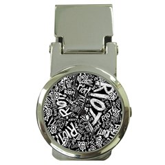 Panic At The Disco Lyric Quotes Retina Ready Money Clip Watches by Samandel