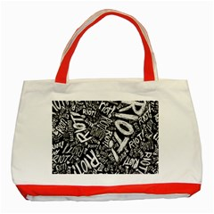 Panic At The Disco Lyric Quotes Retina Ready Classic Tote Bag (red) by Samandel