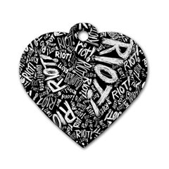 Panic At The Disco Lyric Quotes Retina Ready Dog Tag Heart (one Side) by Samandel