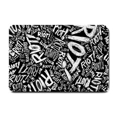 Panic At The Disco Lyric Quotes Retina Ready Small Doormat  by Samandel