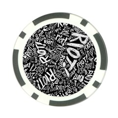 Panic At The Disco Lyric Quotes Retina Ready Poker Chip Card Guard by Samandel