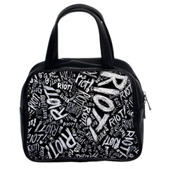 Panic At The Disco Lyric Quotes Retina Ready Classic Handbags (2 Sides) by Samandel