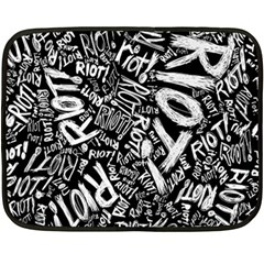 Panic At The Disco Lyric Quotes Retina Ready Fleece Blanket (mini) by Samandel