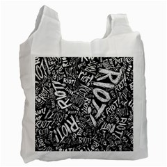 Panic At The Disco Lyric Quotes Retina Ready Recycle Bag (one Side) by Samandel