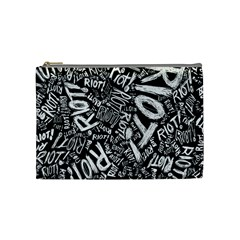 Panic At The Disco Lyric Quotes Retina Ready Cosmetic Bag (medium)  by Samandel