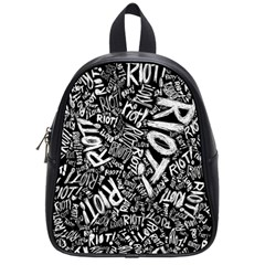 Panic At The Disco Lyric Quotes Retina Ready School Bag (small) by Samandel