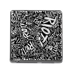 Panic At The Disco Lyric Quotes Retina Ready Memory Card Reader (square) by Samandel