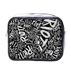 Panic At The Disco Lyric Quotes Retina Ready Mini Toiletries Bags by Samandel