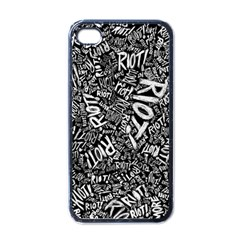 Panic At The Disco Lyric Quotes Retina Ready Apple Iphone 4 Case (black) by Samandel