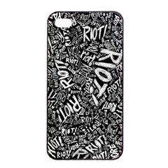 Panic At The Disco Lyric Quotes Retina Ready Apple Iphone 4/4s Seamless Case (black) by Samandel