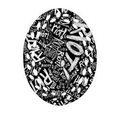 Panic At The Disco Lyric Quotes Retina Ready Ornament (oval Filigree) by Samandel