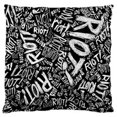 Panic At The Disco Lyric Quotes Retina Ready Large Cushion Case (one Side) by Samandel