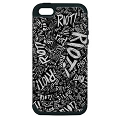 Panic At The Disco Lyric Quotes Retina Ready Apple Iphone 5 Hardshell Case (pc+silicone) by Samandel