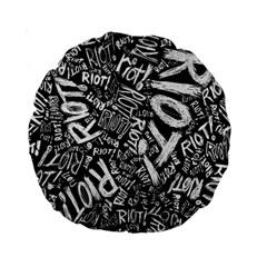 Panic At The Disco Lyric Quotes Retina Ready Standard 15  Premium Round Cushions by Samandel