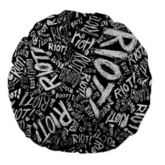 Panic At The Disco Lyric Quotes Retina Ready Large 18  Premium Round Cushions by Samandel