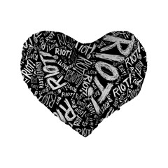 Panic At The Disco Lyric Quotes Retina Ready Standard 16  Premium Heart Shape Cushions by Samandel