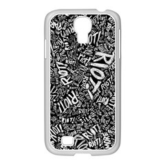 Panic At The Disco Lyric Quotes Retina Ready Samsung Galaxy S4 I9500/ I9505 Case (white) by Samandel