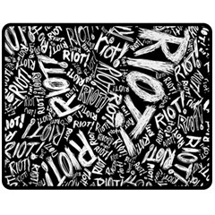 Panic At The Disco Lyric Quotes Retina Ready Double Sided Fleece Blanket (medium)  by Samandel
