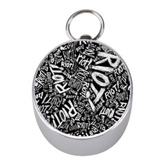 Panic At The Disco Lyric Quotes Retina Ready Mini Silver Compasses by Samandel