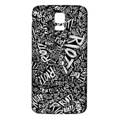 Panic At The Disco Lyric Quotes Retina Ready Samsung Galaxy S5 Back Case (white) by Samandel