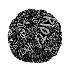 Panic At The Disco Lyric Quotes Retina Ready Standard 15  Premium Flano Round Cushions by Samandel