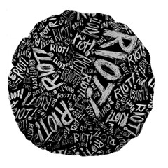 Panic At The Disco Lyric Quotes Retina Ready Large 18  Premium Flano Round Cushions by Samandel
