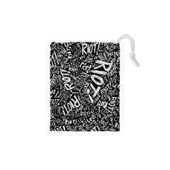 Panic At The Disco Lyric Quotes Retina Ready Drawstring Pouches (xs)  by Samandel