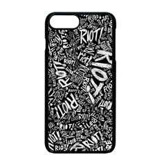 Panic At The Disco Lyric Quotes Retina Ready Apple Iphone 7 Plus Seamless Case (black) by Samandel