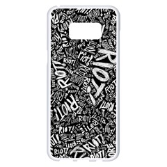 Panic At The Disco Lyric Quotes Retina Ready Samsung Galaxy S8 Plus White Seamless Case by Samandel
